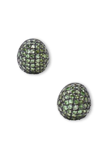 Yossi Harari - Roxanne Gilver Pavé-Set Tsavorite Earrings