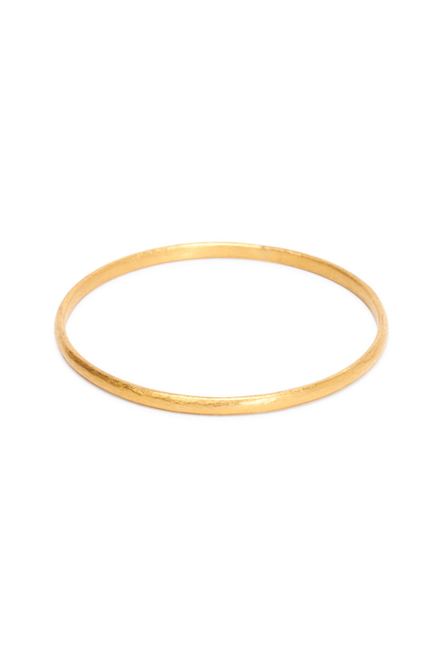 Mica Yellow Gold Narrow Bangle