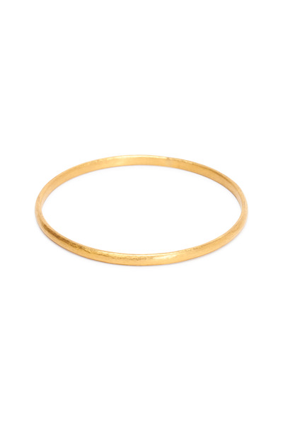 Yossi Harari - Mica Yellow Gold Narrow Bangle