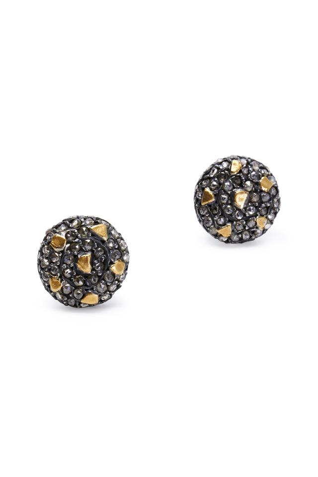 Cognac Diamond Stud Libra Earrings