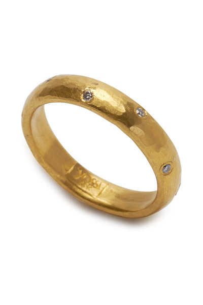 Yossi Harari - Mica Yellow Gold Sprinkle Diamond Band