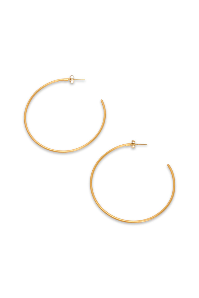 Jane Yellow Gold Grande Hoop Earrings