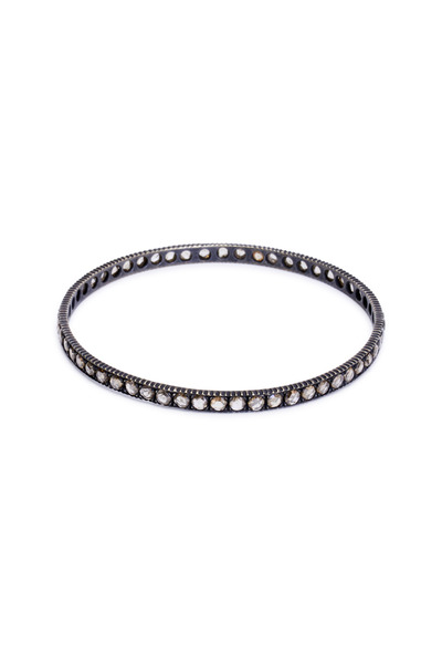 Yossi Harari - Yellow Gold Pavé-Set Dark Cognac Diamond Bangle