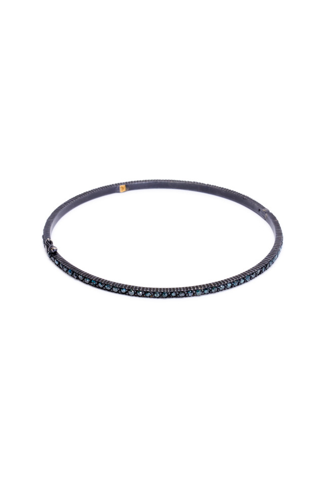 Yellow Gold Blue Diamond Bracelet