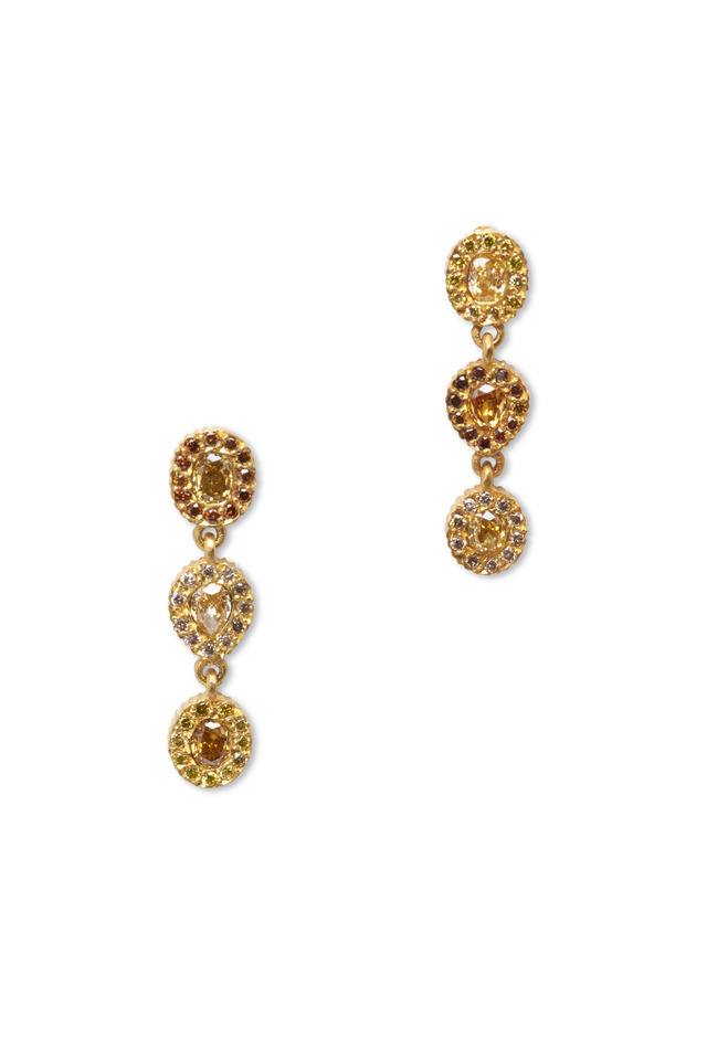 Clara Yellow Gold Diamond Earrings