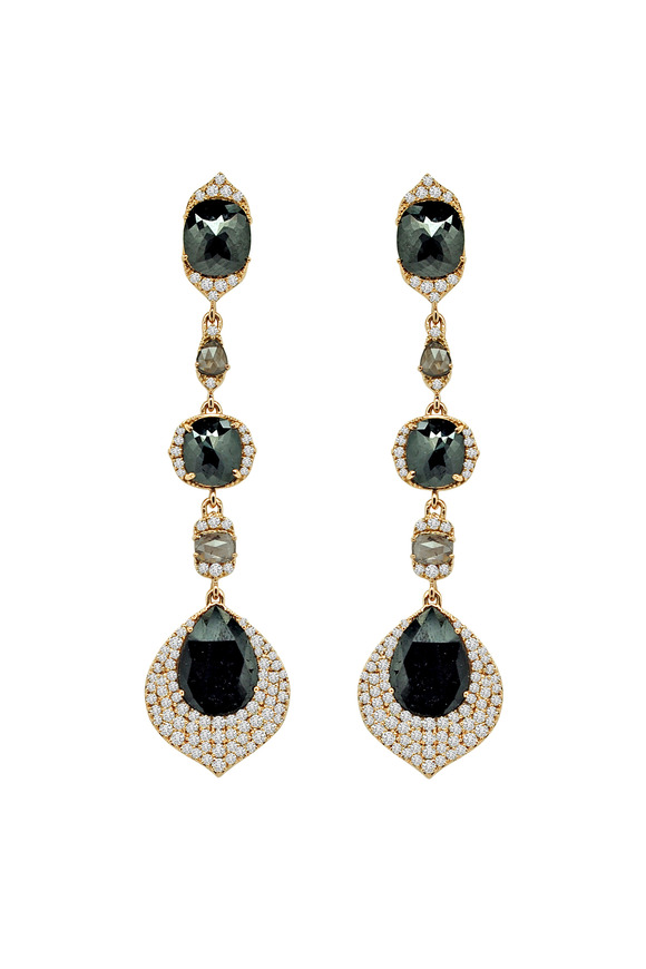 Sutra Rose Gold Diamond Drop Earrings