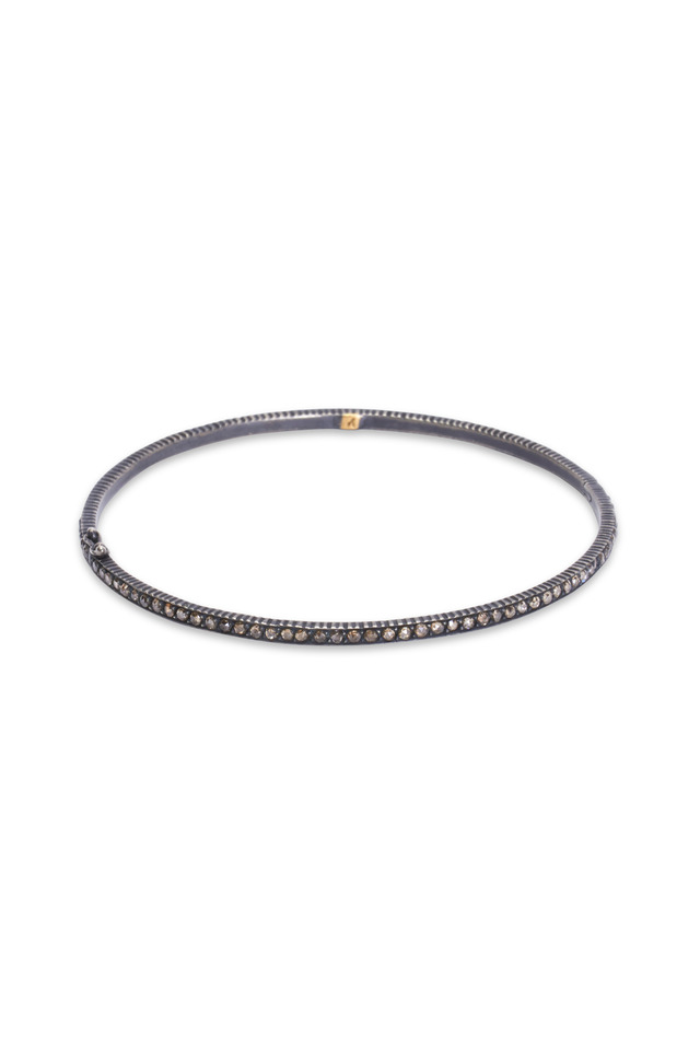Pavé-Set Cognac Diamond Bangle