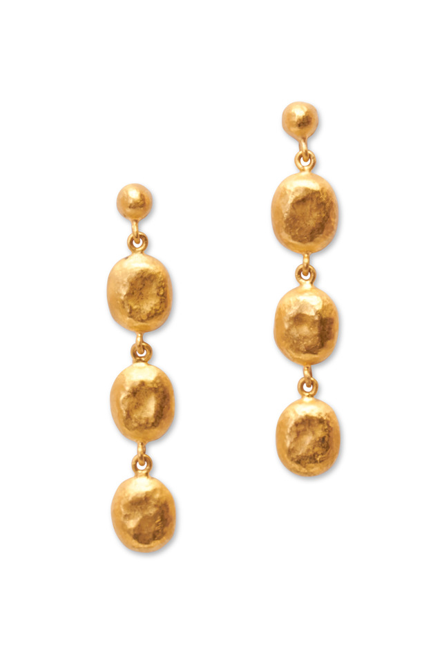 Roxanne Yellow Gold Mini Earrings