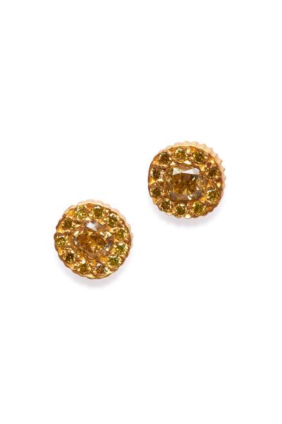 Yossi Harari - Clara Yellow Gold Small Stud Earrings