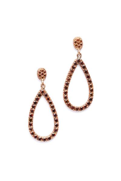 Yossi Harari - Lilah Rose Gold Brown Diamond Earrings