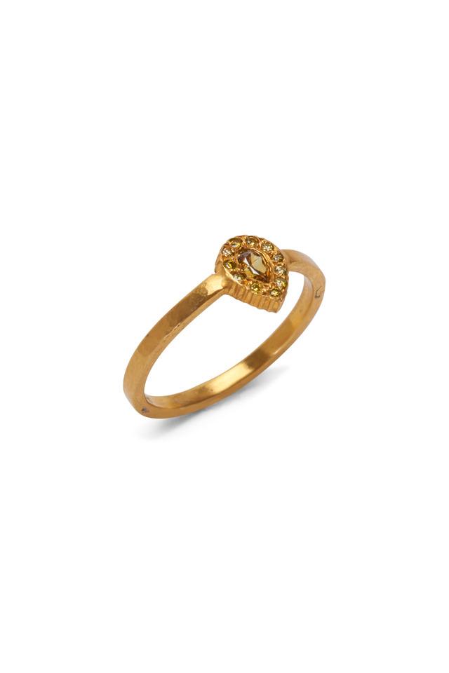 Clara Gold Yellow Sapphire & Diamond Stack Ring