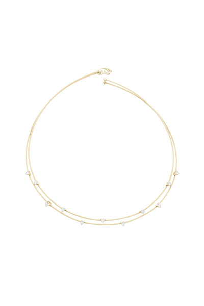 Paul Morelli - 18K Yellow Gold Diamond Double Wire Necklace