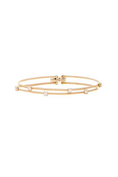 Paul Morelli - Yellow Gold Diamond Double Wire Bracelet