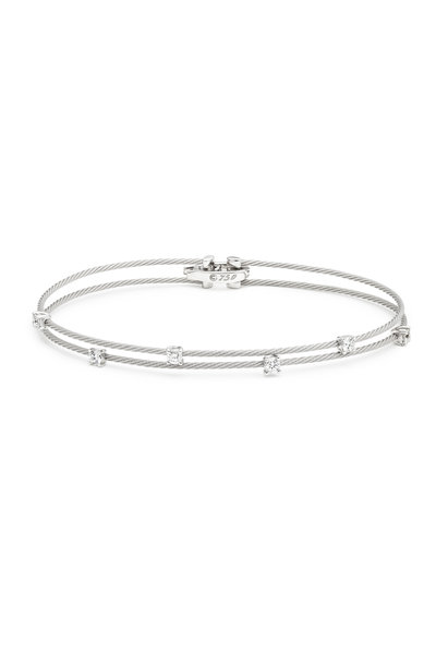 Paul Morelli - 18K White Gold Diamond Double Wire Bracelet