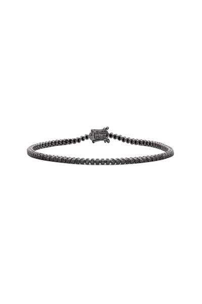 Paul Morelli - White Gold Black Rhodium Diamond Stitch Bracelet