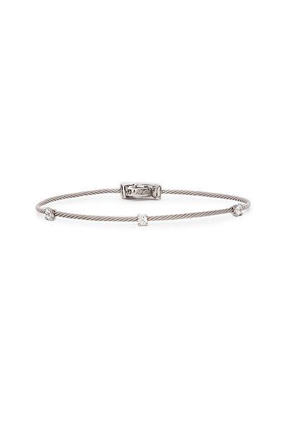 Paul Morelli - 18K White Gold Diamond Wire Bracelet