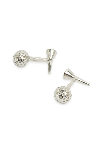 Robin Rotenier - Sterling Silver Golf Ball & Tee Cuff Links