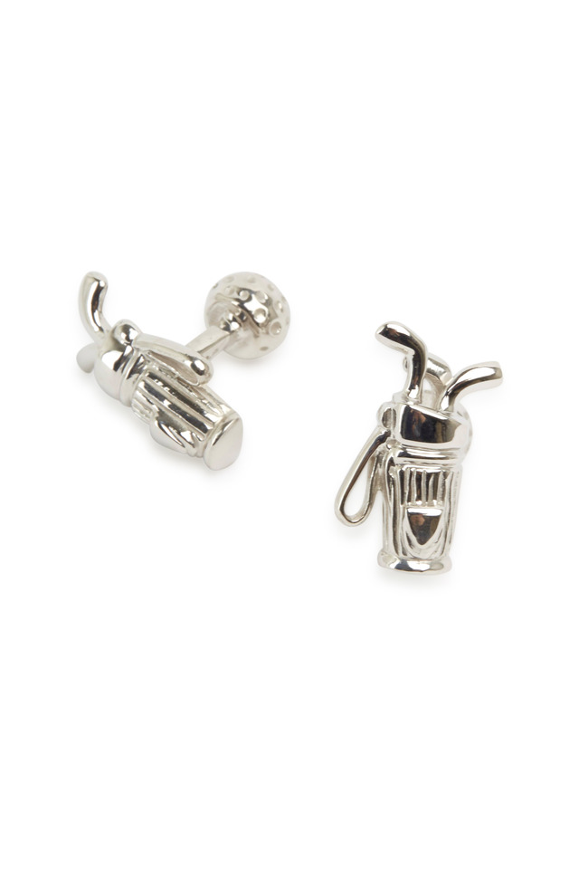 Sterling Silver Golf Bag Cuff Links