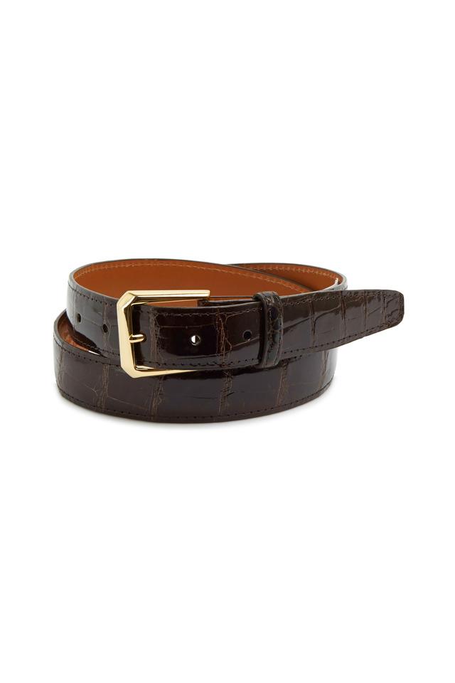 Classic Dark Brown Alligator Belt