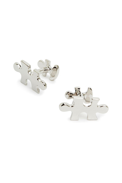 Robin Rotenier - Sterling Silver Puzzle Piece Cuff Links