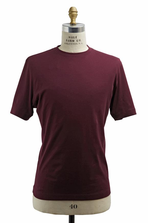 Left Coast Tee Aubergine Cotton T-Shirt