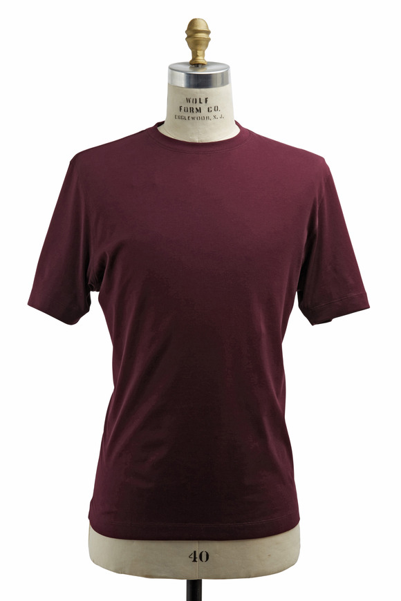 Left Coast Tee Aubergine Cotton T-Shirt
