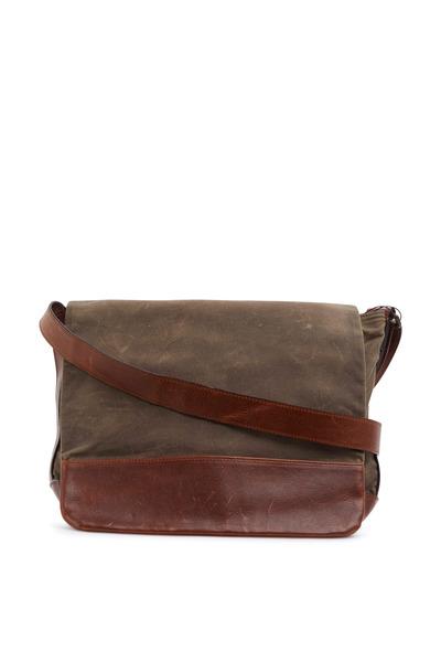 Moore & Giles - Sacket Tan Leather & Waxwear Messenger