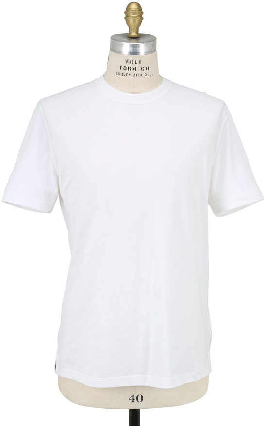 Brunello Cucinelli White Essential Short Sleeve T-Shirt