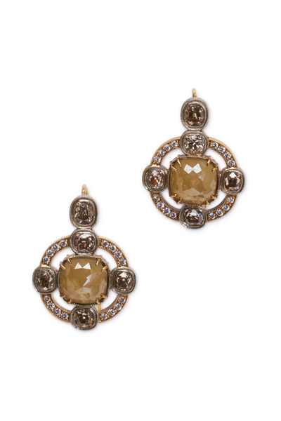 Sylva & Cie - Yellow Gold Diamond Earrings