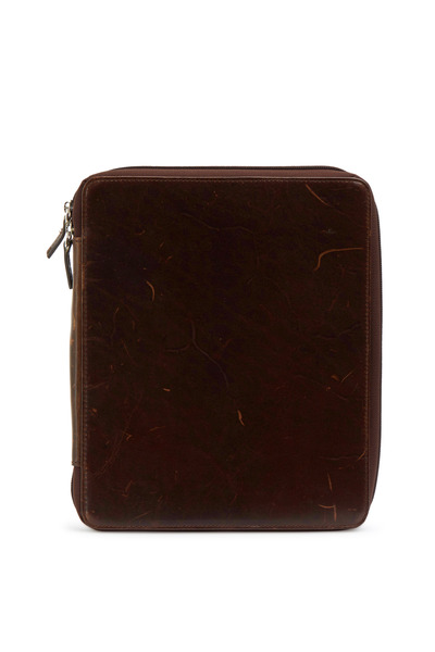 Moore & Giles - Brown Leather Ipad Zip Around Cover