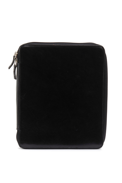 Moore & Giles - Black Leather Ipad Zip Around Cover