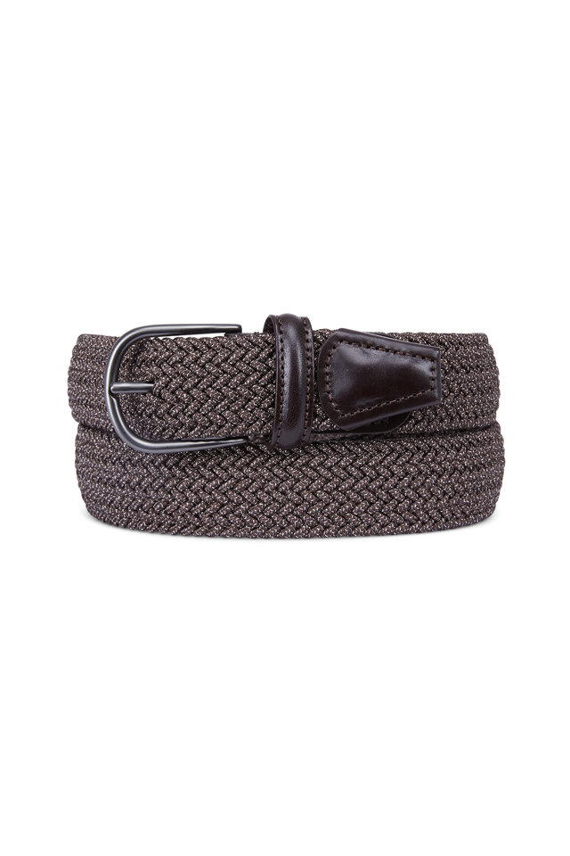 s brown woven stretch belt mitchell stores