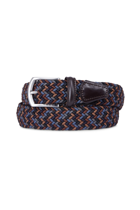 Anderson's Brown Multicolor Stretch Woven Belt