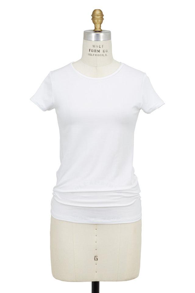 White Superwash Stretch Jersey Tee