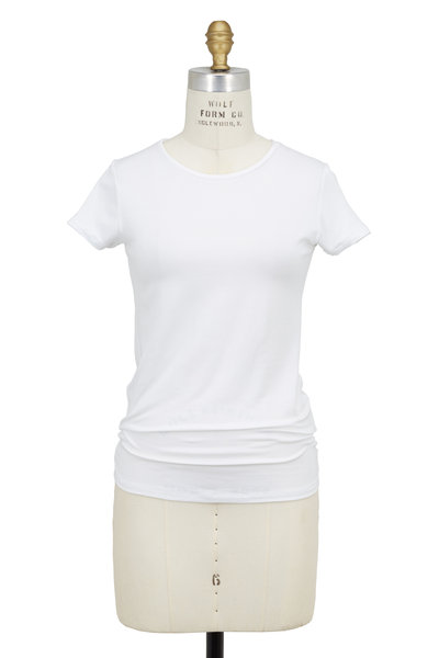 Majestic - White Superwash Stretch Jersey Tee