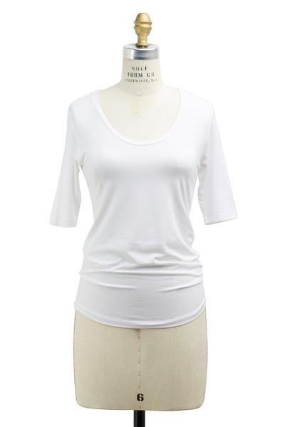 Majestic - White Viscose Top