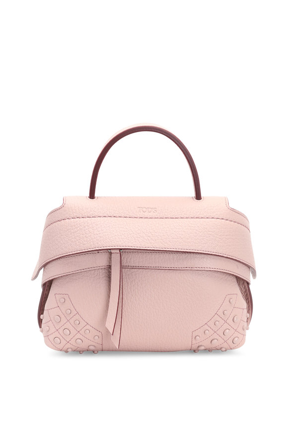 Tod's Wave Blush Pebbled Leather Mini Crossbody