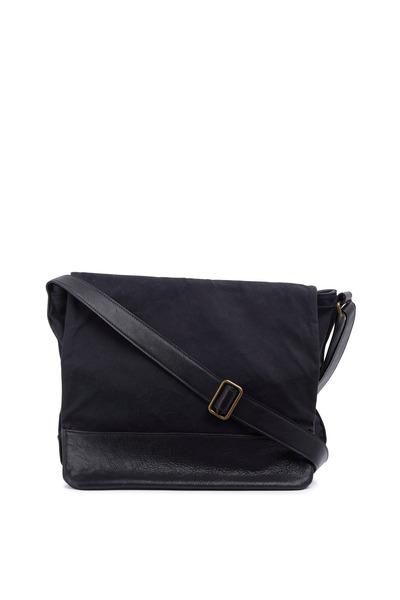 Moore & Giles - Black Waxwear Messenger Bag