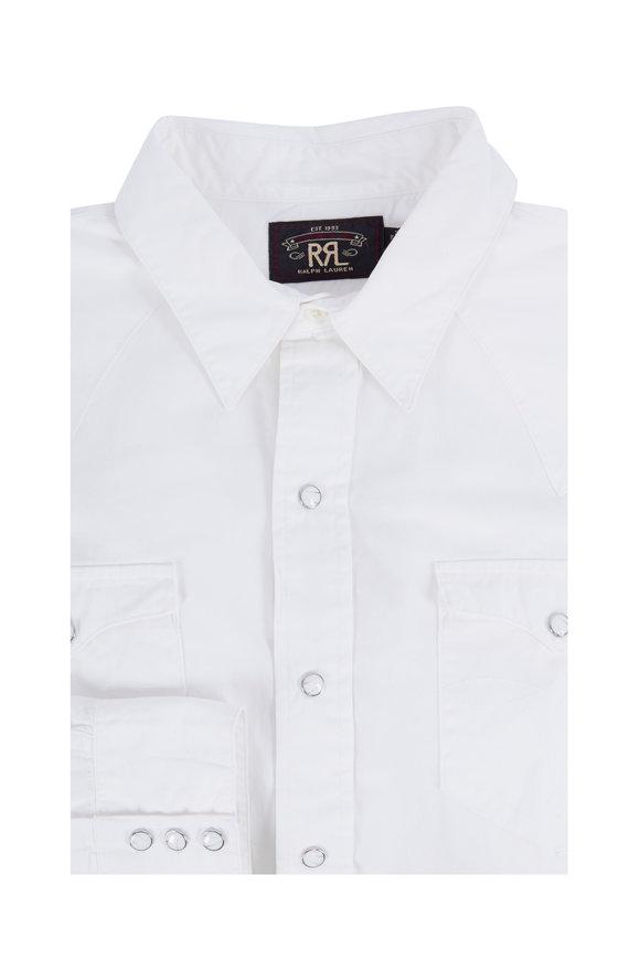 RRL Heritage White Western Poplin Shirt