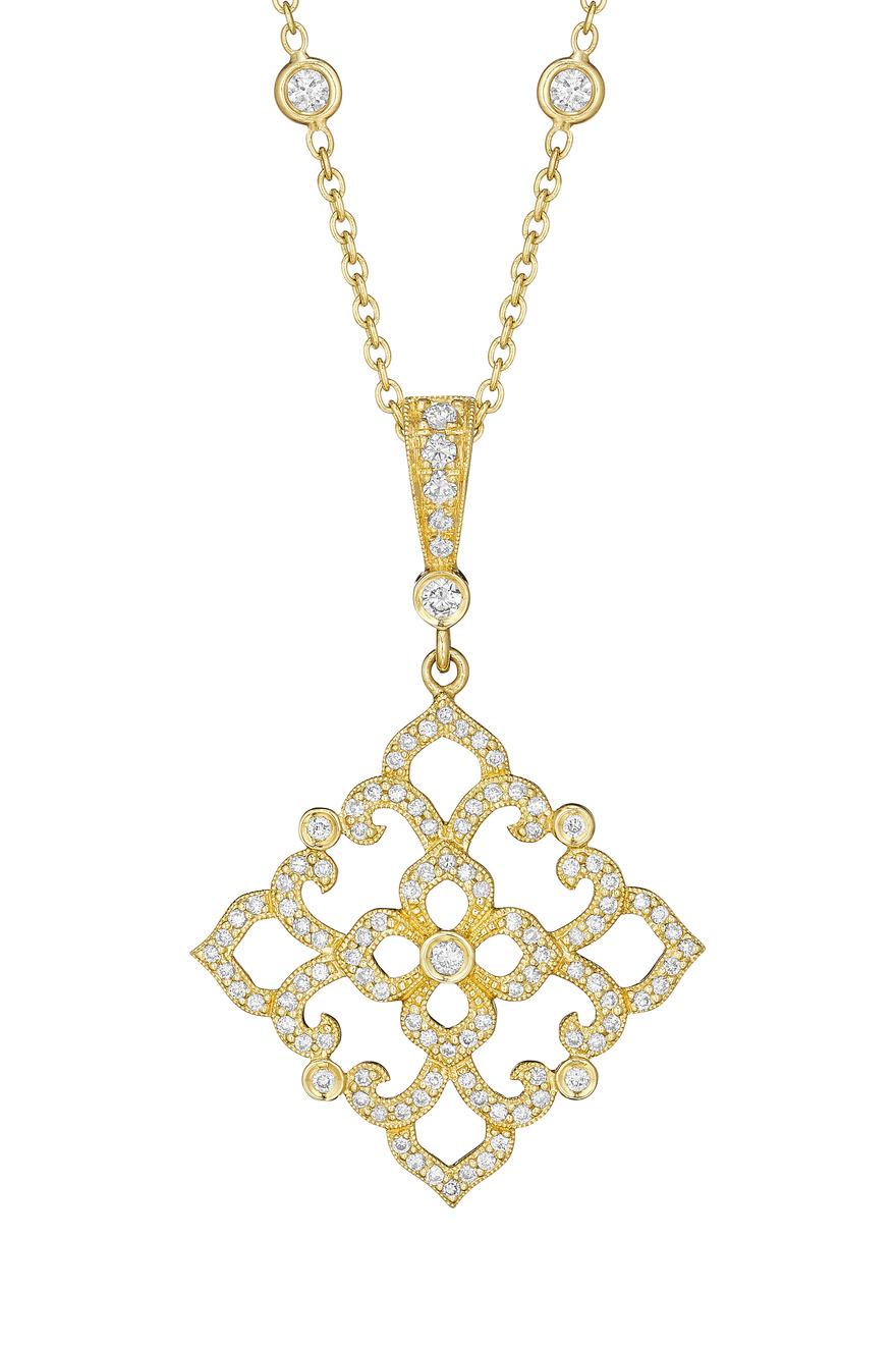 Gold Lace Diamond Bale Enhancer