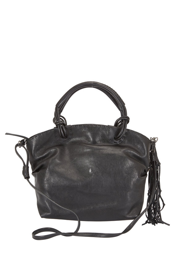 Henry Beguelin Angelica Black Leather Satchel