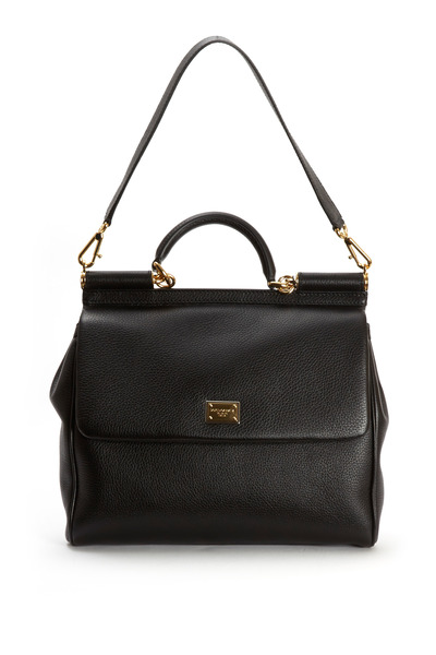 Dolce & Gabbana - Miss Sicily Black Leather Medium Satchel