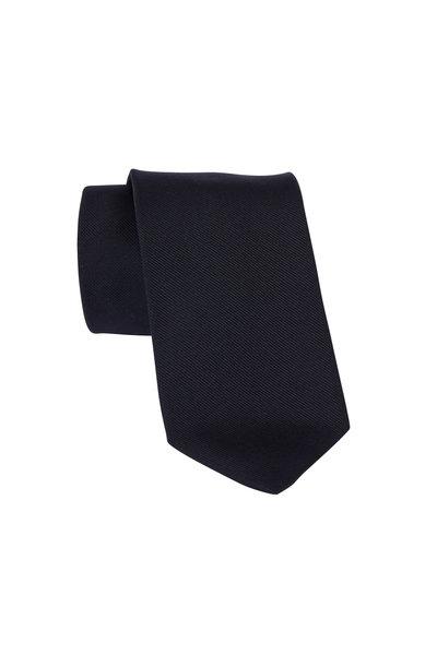 Dion - Black Silk Faille Necktie