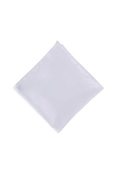 Dion - White Satin Pocket Square
