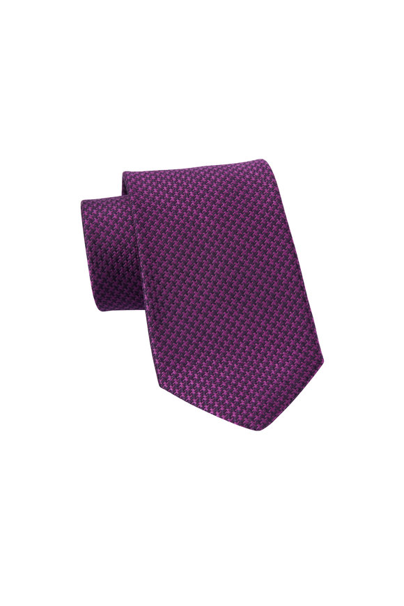 Dion Magenta Jacquard Woven Necktie