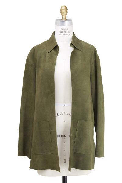 Ralph Lauren - Olive Green Suede Jacket