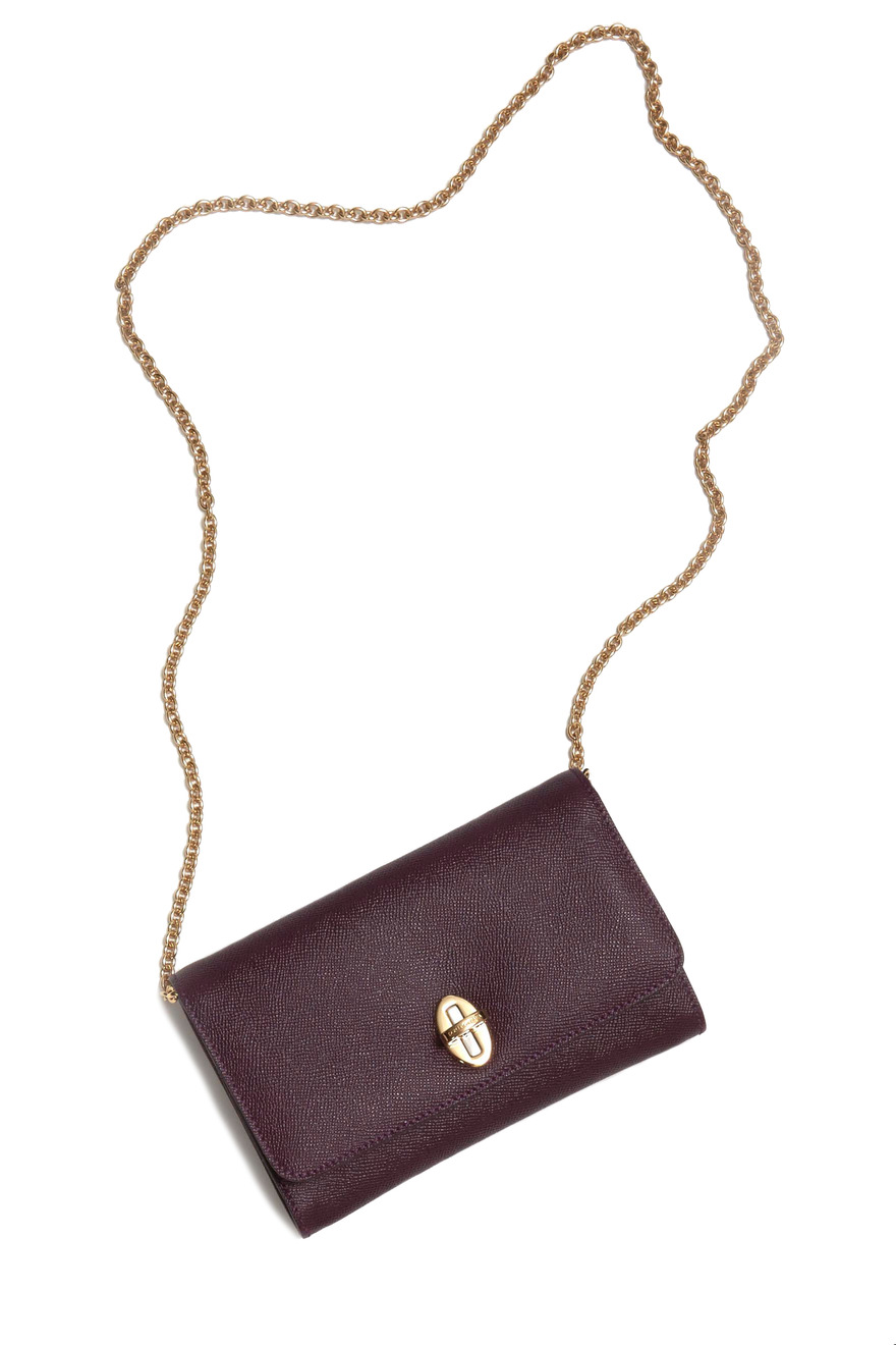 Taormina Burgundy Leather Clutch