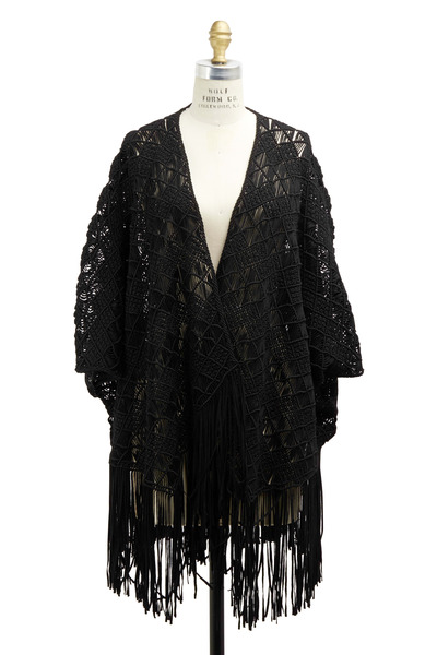 Ralph Lauren - Black Viscose Poncho