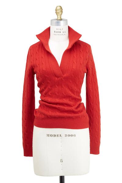 Ralph Lauren - Red Cashmere Sweater