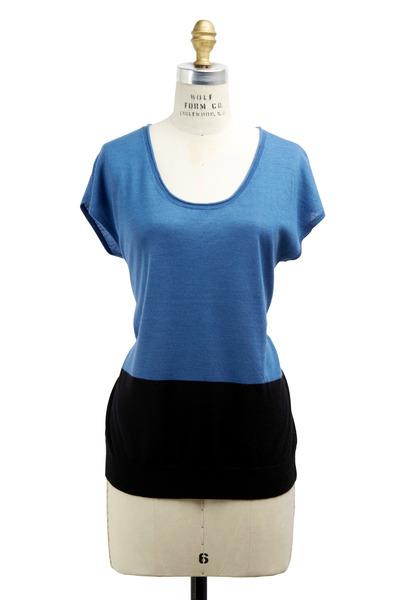 Derek Lam - Blue Cashmere & Silk Sweater